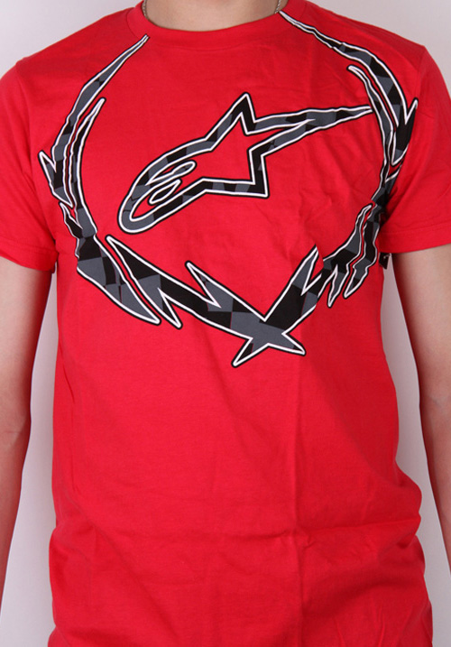 T-shirt Alpinestars Metal Wreath Czerwony