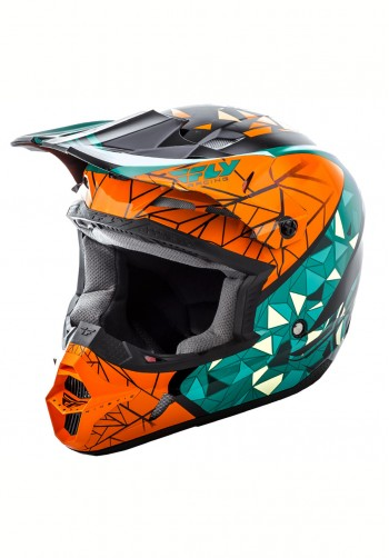 Kask off-road Fly Racing Kinetic Crux pomarańczowy